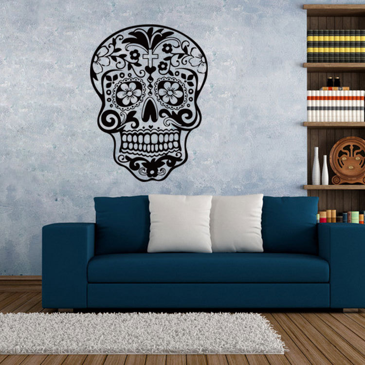 Room, Skull, Decoration, Sticker, DIY, Floral