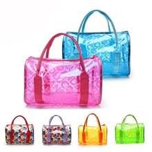 LHLYSGS Brand PVC Waterproof Transparent Cosmetic Bag Women Travel Organizer Large Necessary Beautician Toiletry Makeup Bag