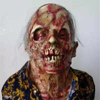Masque d'horreur Halloween masques de zombies fête Cosplay sanglante pourriture dégueulasse visage effrayant Masque mascarade Mascara terreur Masker Latex