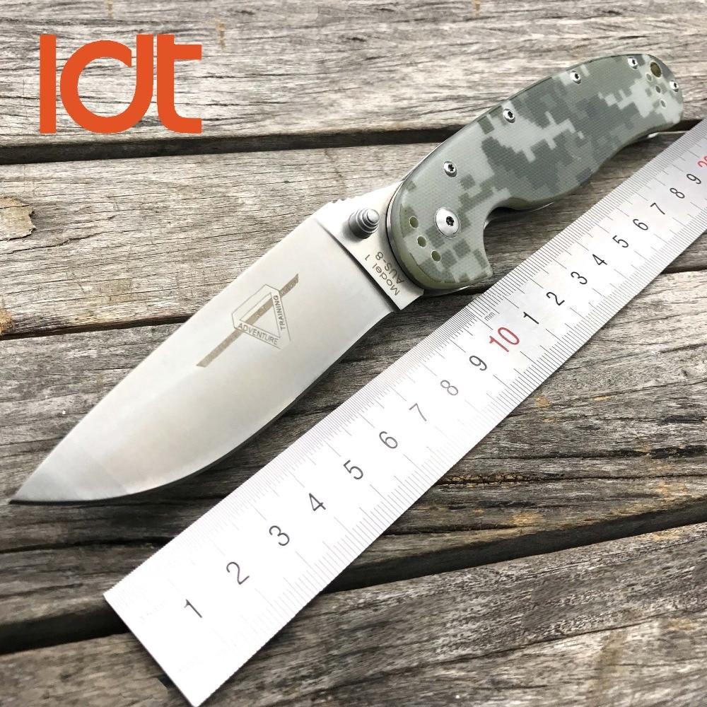 LDT RAT Model 1 Folding Knife AUS-8 Blade G10 Handle Tactical Knives Utility Outdoor Camping Survival Pocket Knife EDC Tools