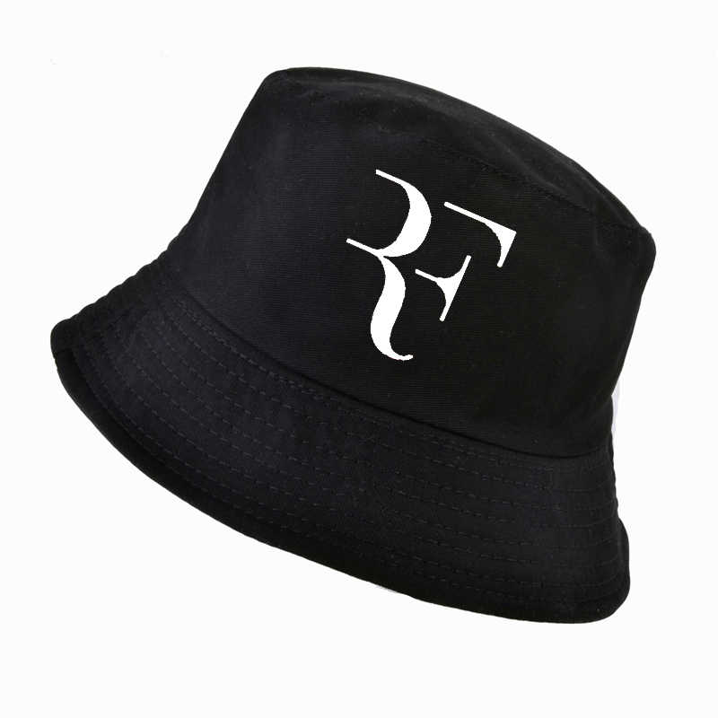 bc18e96a ... 2018 Tennis Star Roger Federer Dad bucket hat Sport fishing cap 100% cotton  3D printing ...