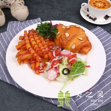 Simulated Food Model Horn Bread Salad Package Handicraft Artificial Props Western Restaurant Crafts Simulation Dish Ornaments
