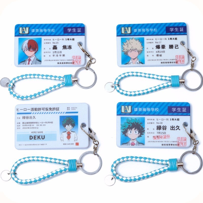 My Hero Academia Acrylic Keychain Bag's Boku No Hero Akademia Bakugou Katsuki AsuiTsuyu Cosplay Keychain Metal Card Holder