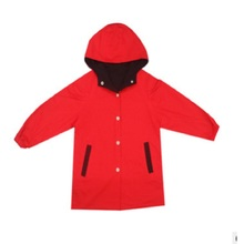 Тренч для девочек Новинка года, весенне-Осенняя детская ветровка красного цвета с рисунком для девочек, Size110-160 для Children4-14, ly141