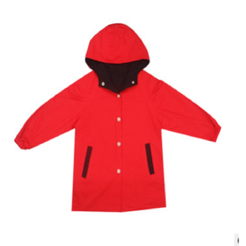 Girls   Trench   2018 New Spring and Autumn Children's Red Color Girls Print Cartoon Windbreaker Size110-160 for Children4-14 ly141