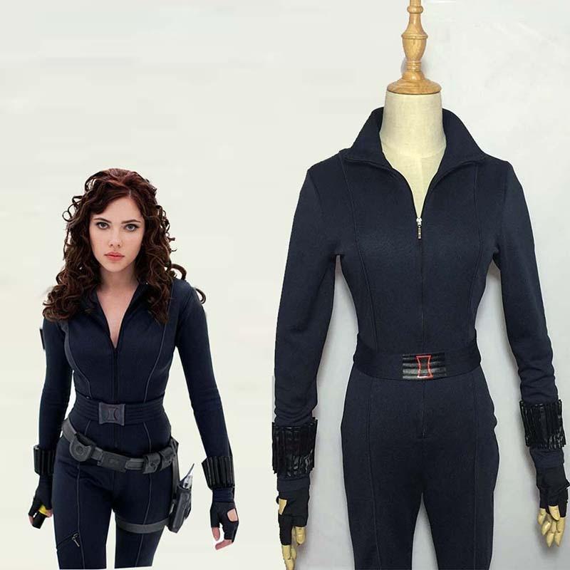 Movie Avengers Black Widow Cosplay Costume Halloween Carnival Superhero Jumpsuit Natasha Romanoff Battle Suit Custom Made худи xxxtentacion