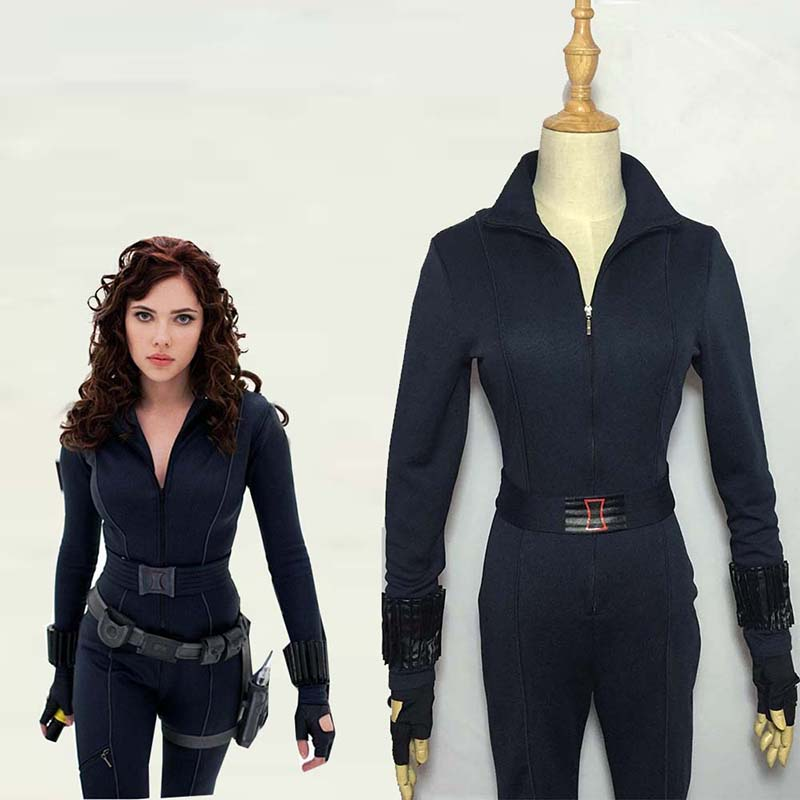 Movie Avengers Black Widow Cosplay Costume Halloween Carnival Superhero Jumpsuit Natasha Romanoff Battle Suit Custom Made