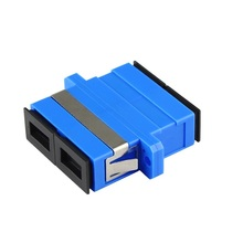 цена на 40pcs/lot SC to SC Single Mode Duplex Telecom Coupler Fiber Optic Adapter