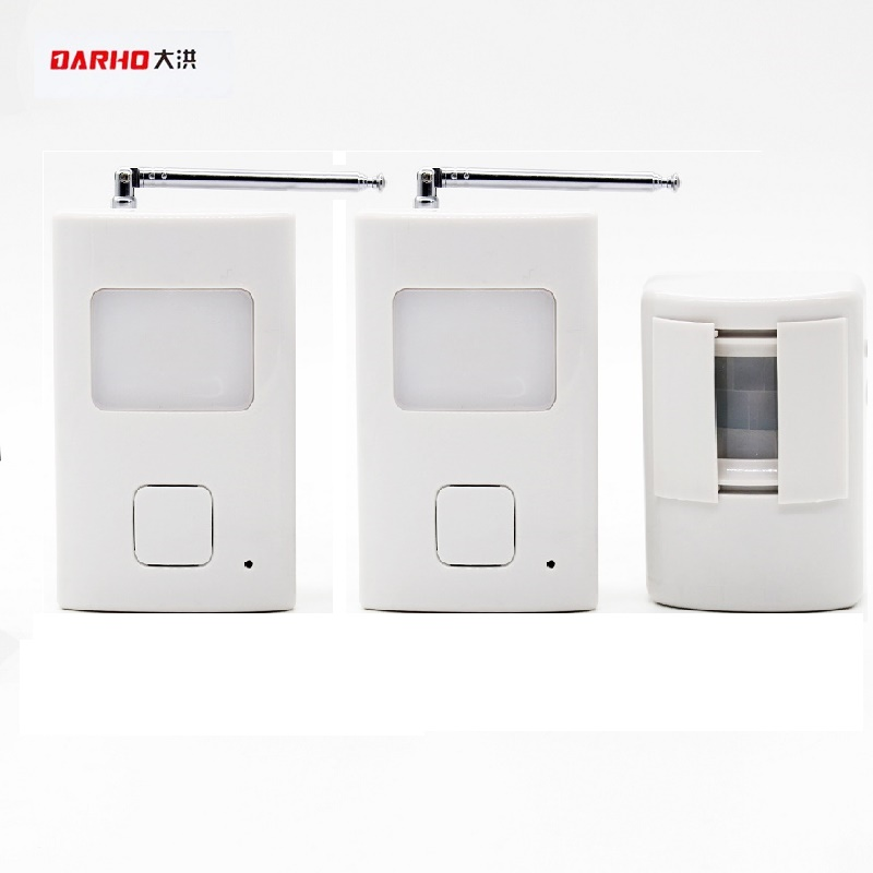 Darho Welcome Device Shop Store Home Welcome Chime Wireless Infrared IR Motion Sensor Door bell Alarm Entry Doorbell Reach 300m ks v2 welcom chime bell sensor