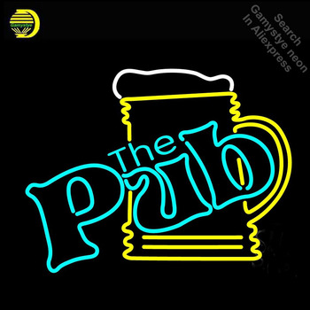 The Pub Cup Neon Light Sign Neon Bulbs sign Handcraft Hotel Beer Bar Pub Signs lampara neon personalized Lamp Advertisement