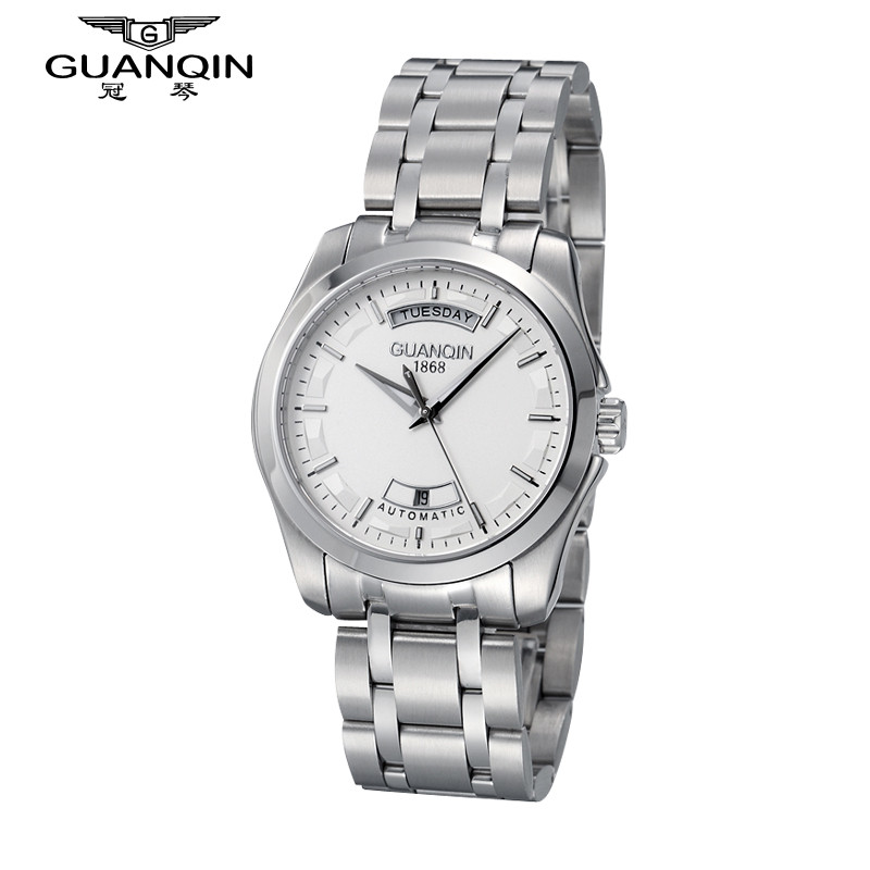 Original Brand GUANQIN Watch Men with Date Mechanical Watches Sapphire Men Luxury Big Dial Watch Waterproof Cheap Wristwatches famous brand guanqin men watch with date mechanical watches sapphire men sale watch luxury brand waterproof dress wristwatches