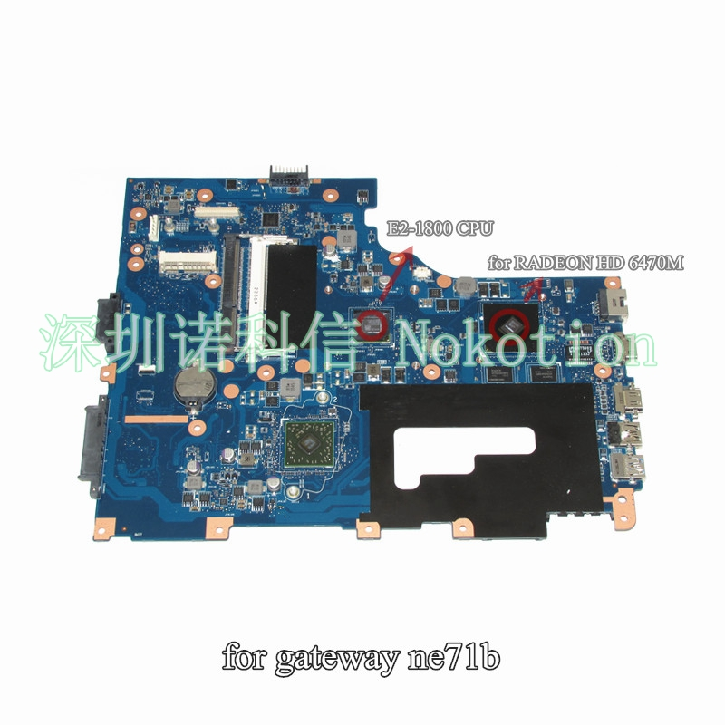 NOKOTION Main Board For Gateway NE71B NE71B06u Laptop Motherboard Pegatron EG70 EG70BZ DDR3 HD 6470M works laptop keyboard for pegatron japanese jp mp 13a80j065827 0kn0 cn6jp12
