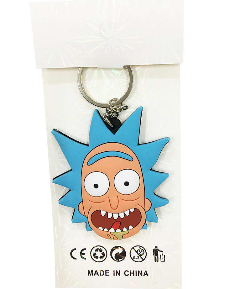 Rick and Morty Two-sided Key Chain Handmade PVC Keychain figure Cute 2018 cute ornament