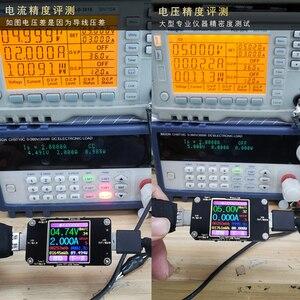 Image 3 - Voltímetro digital tft, testador usb tipo c sem fio bluetooth dc digital, detector de tensão atual, indicador do carregador