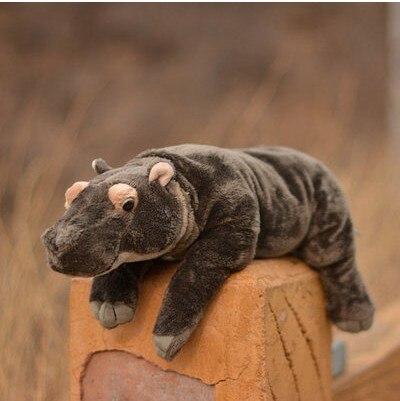 Livraison gratuite nouvelle belle 45 cm peluche poupée cheval enclin position hippopotame sieste oreiller