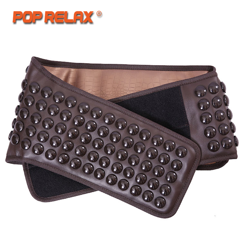 POP RELAX Germanium Tourmaline Waist Belt Jade Stone Far Infrared Thermal Physical Therapy Massager Health Electric Massage Belt pop relax korea germanium tourmaline bracelet for couples health care new fashion anion stone jewelry bracelet physical therapy