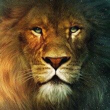 Diy роспись бриллиантовыми стразами лесной Король Лев животных вышивка крестиком ручной работы Рукоделие Декор