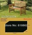 Dois lugares bancos capa, capa protetora para a cadeira de madeira, mobiliário de jardim 135x70x100 cm Preto tampa, tampa à prova d' água
