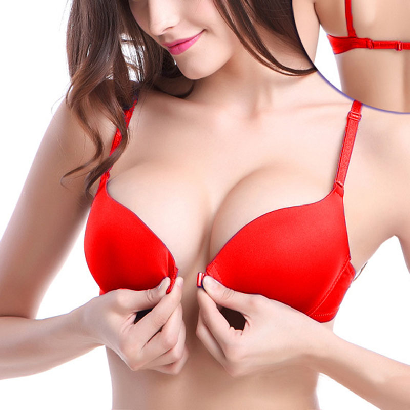 Bras Trend Mark Women Push Up Small Chest Bra Sexy Bra Front Buckle Bras Seamless Backless Bra Girlss Underwear