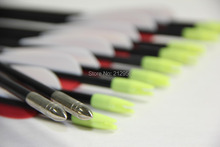 Longbowmaker 12PCS 33 Inches Fiberglass Target Practice Arrows F2RWT1