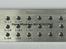 Forma cuadrada de Alambre De Carburo De Tungsteno Drawplate, Varios modelos, 3.10-5.00mm, 5.10-7.00mm, el hoyo número 20/30 Joyería Que Hace el Equipo