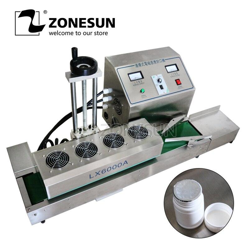 ZONESUN DL-1800 Bureau acier inoxydable Continue Induction Scellant, magnétique induction machine à sceller, convient à 15-80mm diamètre
