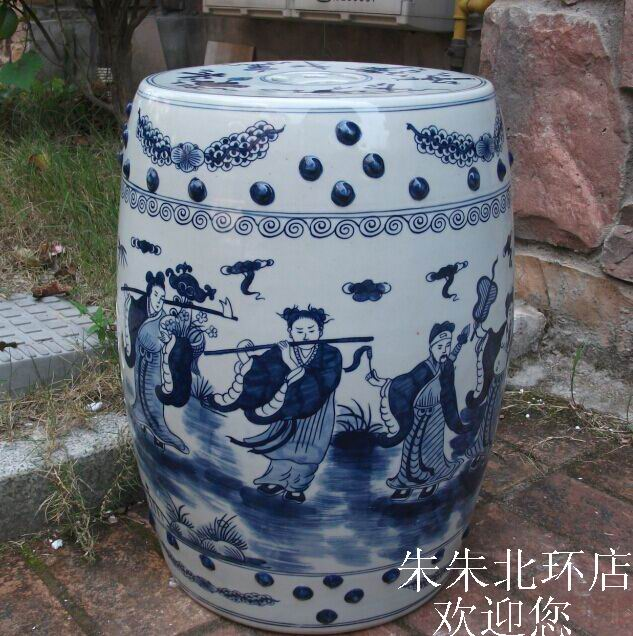 Blue And White Stool For Dressing Table Drum Stool Chinese Porcelain Garden  Stool Ceramic Antique Chinese