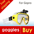 New high quality Diving Glasses GoPro Hero 4 3+ 3 2 1 SJ4000 SJ5000 SJ6000 sport camera Silicone Swimming Pool free shipping