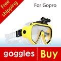Novo de alta qualidade óculos de mergulho gopro hero 4 3 + 3 2 1 câmera SJ4000 SJ5000 SJ6000 esporte Silicone Piscina frete grátis