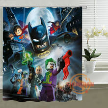 Lego Marvel Shower Curtain Personalized Custom Bath curtain Waterproof polyester curtain for family(China)