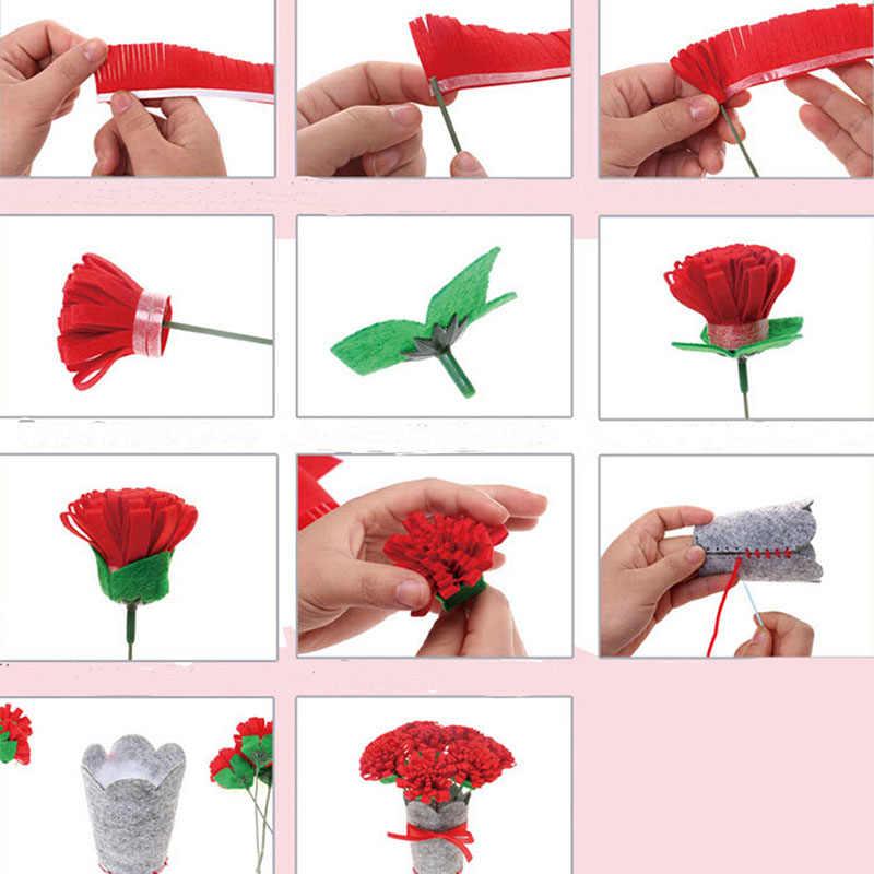 3D EVA пены цветочный горшок Красочные Обучение маленьких детей игрушка творческий ручной работы цветочный горшок украшения дома дети девочка DIY ремесло