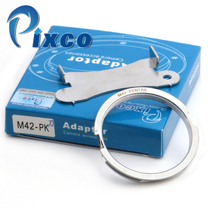 Image 1 - M42 PK, adaptador de lente para lente de montaje de tornillo Focus Infinity M42 para adaptarse a la Cámara Pentax para anillo de adaptador de montaje al cuerpo PK (Plata)