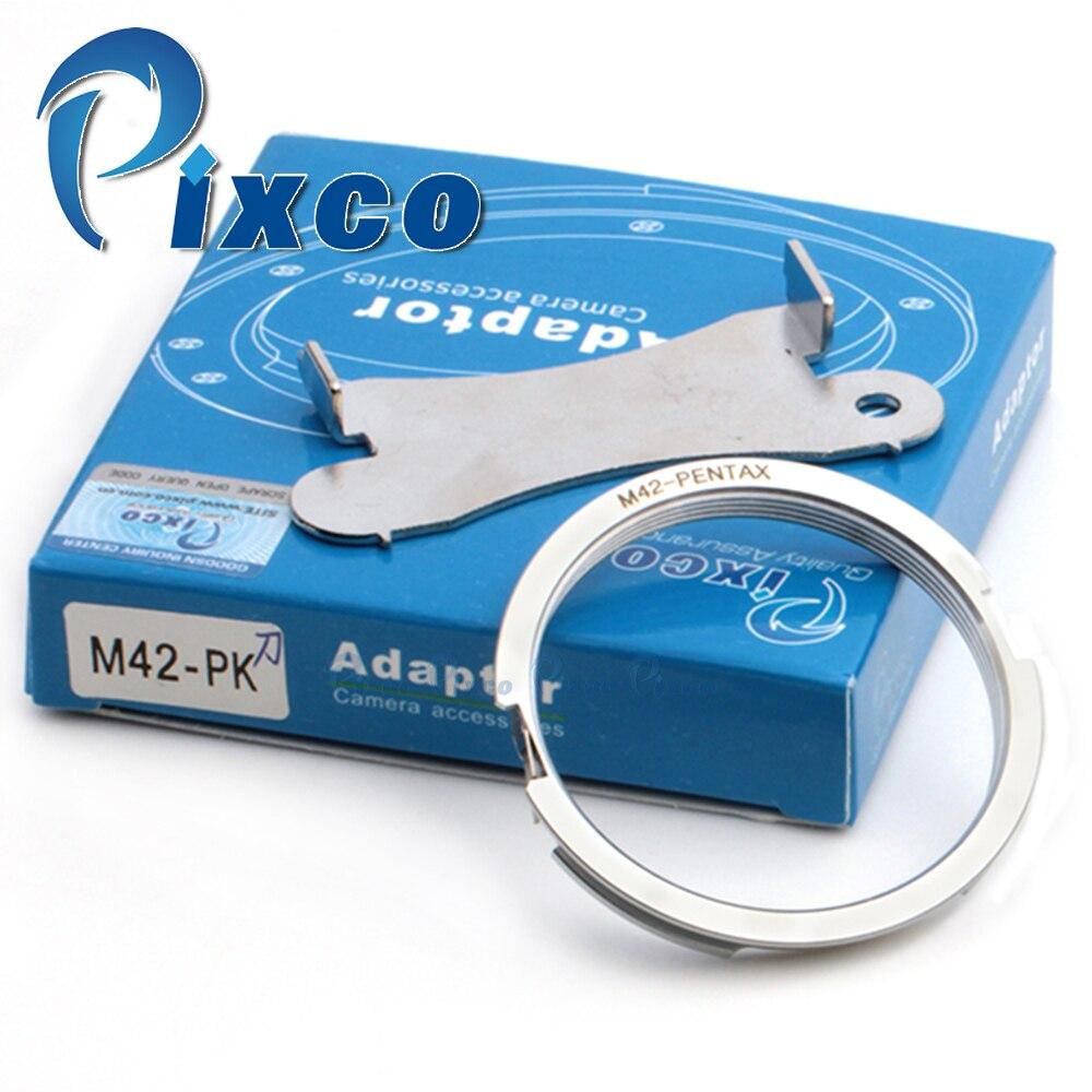 Objektiv adapter Anzug Für Fokus Unendlichkeit M42 schraub Objektiv für Pentax kamera für PK body Mount Adapter Ring (silber)