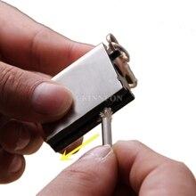 DHL 500pcs Portable Emergency Fire Starter Flint Match Lighter Outdoor Hiking Survival Useful Silver NO OIL