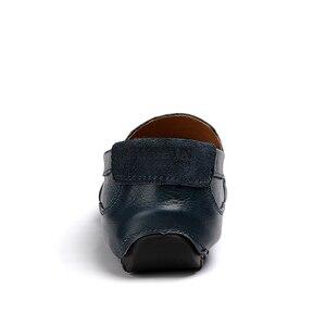 Image 4 - JKPUDUN Uomini Scarpe Di Lusso di Marca Del Cuoio Genuino Casual Guida Scarpe Uomo Mocassini Mocassini Slip on Scarpe Italiane per Gli Uomini Grande formato