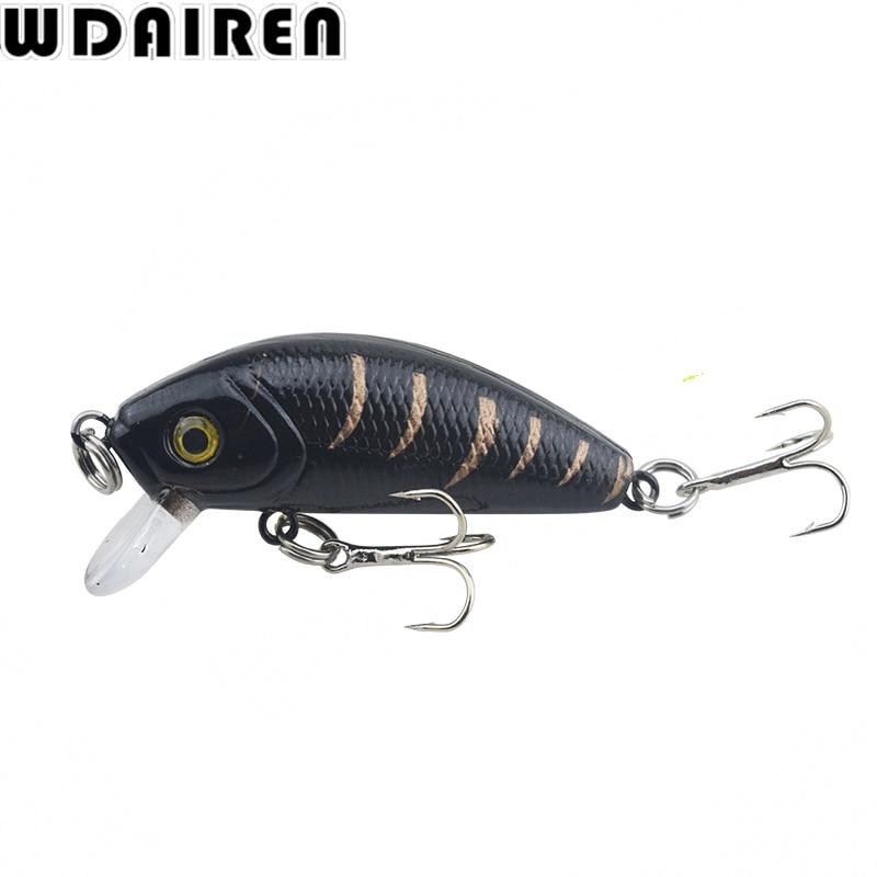 1Pcs 4.5cm 3.6g Minnow Fishing Lure Winter Laser Hard Artificial Bait 3D Eyes Wobblers Crankbait Minnows Fishing tackle DW-201