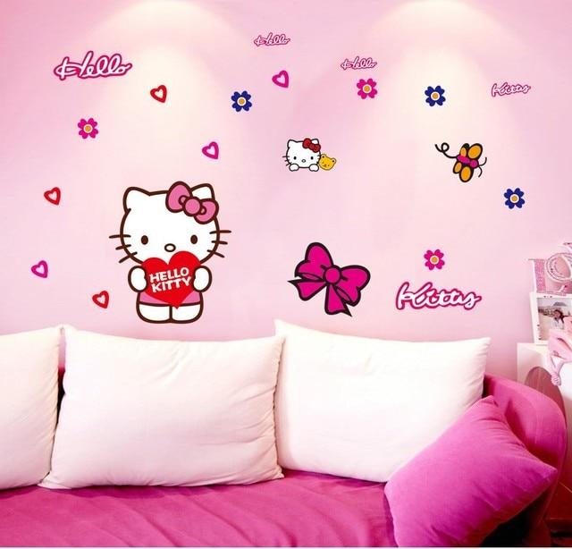 Hello Kitty Diy Stiker Mobil Dinding Dekorasi Rumah Decals Poster R Mandi Dapur
