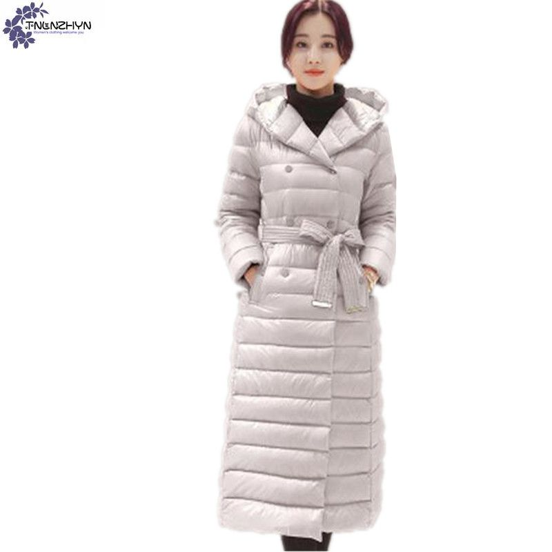 TNLNZHYN winter fashion Women clothing Cotton coat casual large size Long sleeve hooded Thickening long female Outerwear TT697