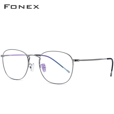 Titanium Alloy Glasses Frame Men Ultra Light Full Square Myopia Prescription Eyeglasses 2018 Fashion Women Optical Frame Eyewear Lahore