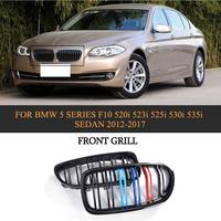 ABS Car Front Bumper Grille Cover Trim For BMW 5 Series F10 520i 523i 525i 530i 535i Sedan 4 Door 2012 2017