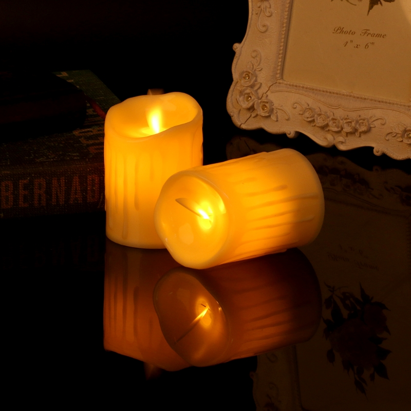 New Hot Flameless Led Candle Electric Flickering Tea Light Candles Wedding Christmas Decoration Candle Led Home & Garden