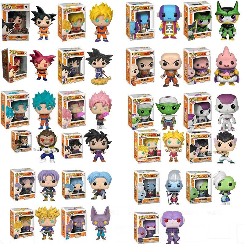 Funko Pop Anime Dragon Ball Z Super Saiyan Vinyl Action Figure Collection Model Toys For Children