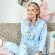7907f9228 CEARPION luz azul de las mujeres embarazadas ropa de dormir Pijamas de  lactancia traje de maternidad