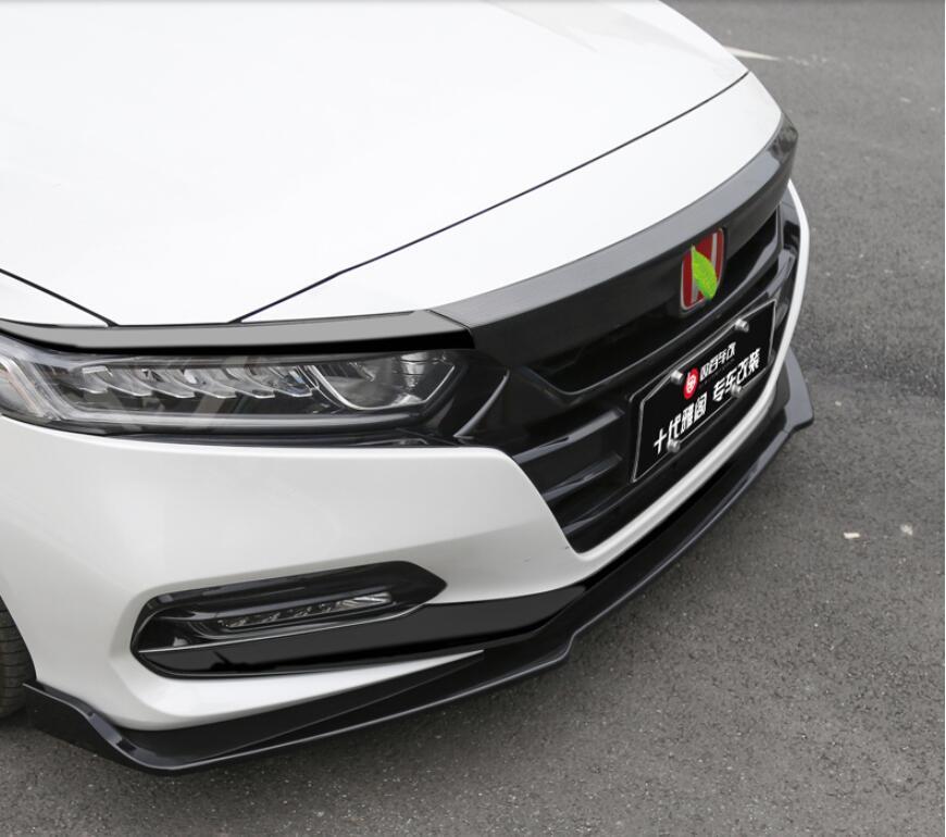 3pcs/Set ABS Front Bumper Lip For Honda Accord 2018 2019 2020