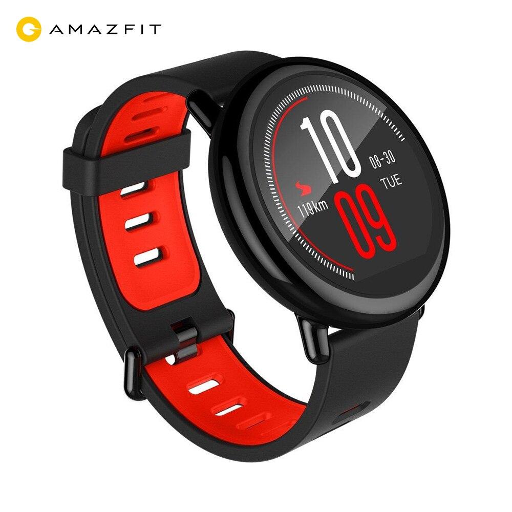 Montre intelligente Xiaomi AMAZFIT avec GPS intégré, moniteur de fréquence cardiaque, résistance à l'eau IP67-Negro Relojes inteligentes