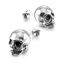 8bb9c797a 2019 Halloween Jewelry Punk Vintage Skull Earrings For Man Women Hip-hop Stud  Earrings Vintage Rock Skeleton Ear Party Gift