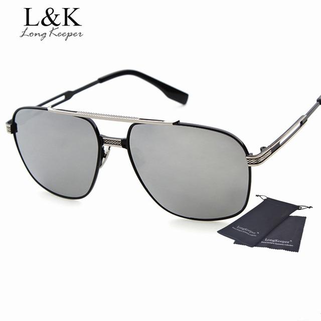 a33e17c419b46 Long keeper grade de design da marca óculos de sol das mulheres dos homens  liga de