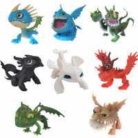 8/stücke Wie Trainieren Sie Ihre Drachen 3 8 stücke Drachen Puppe Dekoration Spielzeug Set Stormfly Nacht Fury licht fury zahnlos kinder geschenke