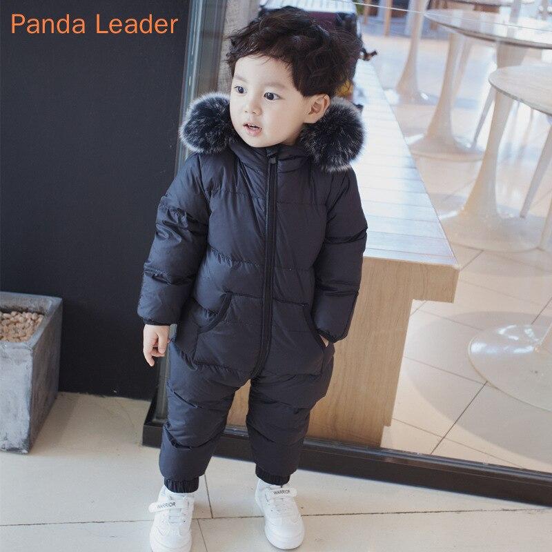 Vêtements bébé hiver doudoune pour filles bébé barboteuse salopette pour enfants bébé combinaison Ski costume garçons Snowsuit fourrure manteau à capuche