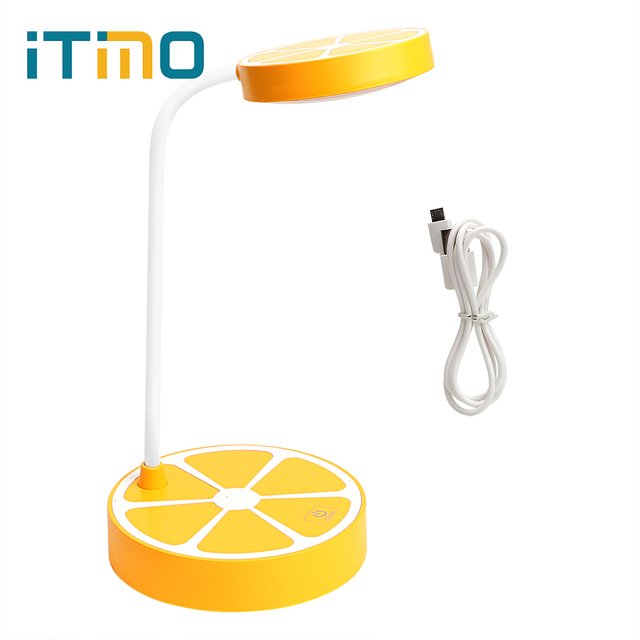 ITimo Orange Shaped Table Lamp USB Rechargeable 3 Modes Adjustable Book  Reading Light LED Desk Lamps